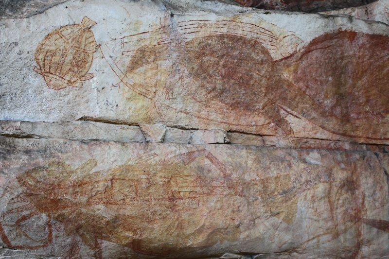 Rock art at Ubirr