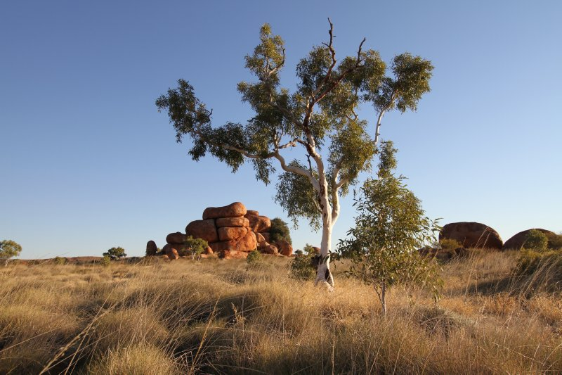 Sunset at Devils Marbles