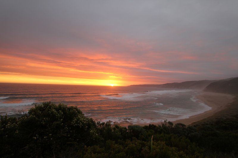 Sunset at Johanna Beach