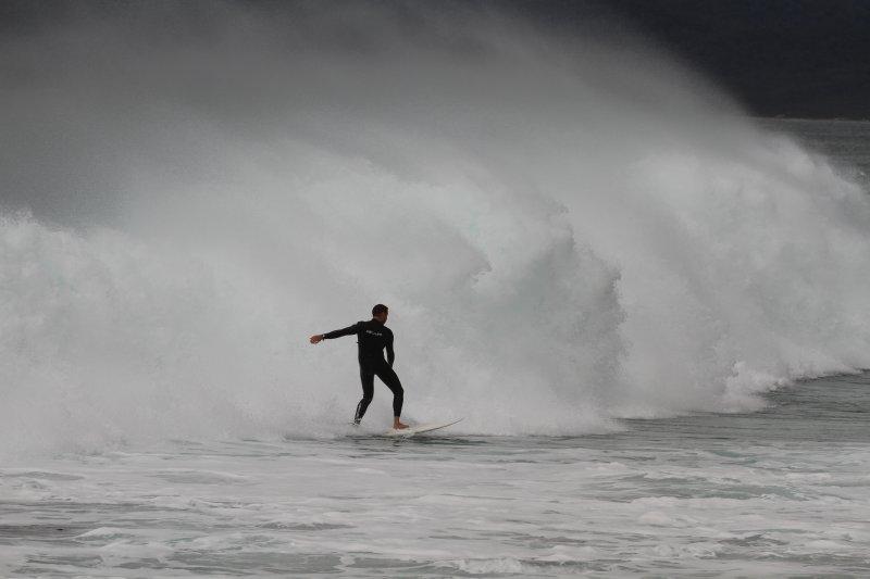 Surfer on Friendly Beach