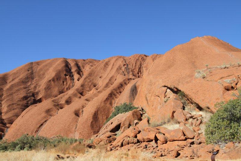 Walking rails to the top of Uluru
