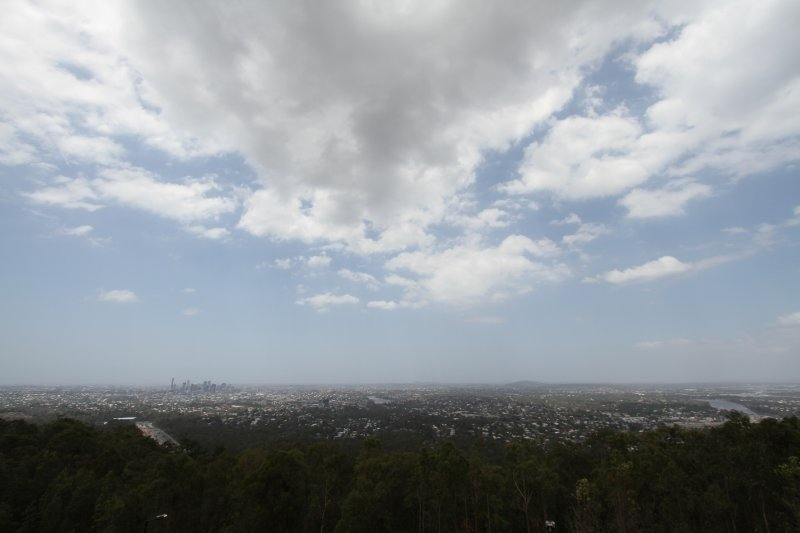 View of Brisbane from Mt Coot-tha