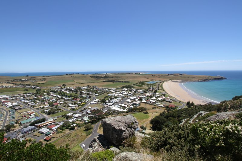 View of Stanley from The Nut