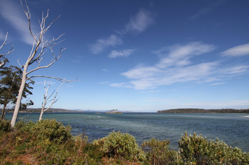 Views of South Bruny Island from Southport