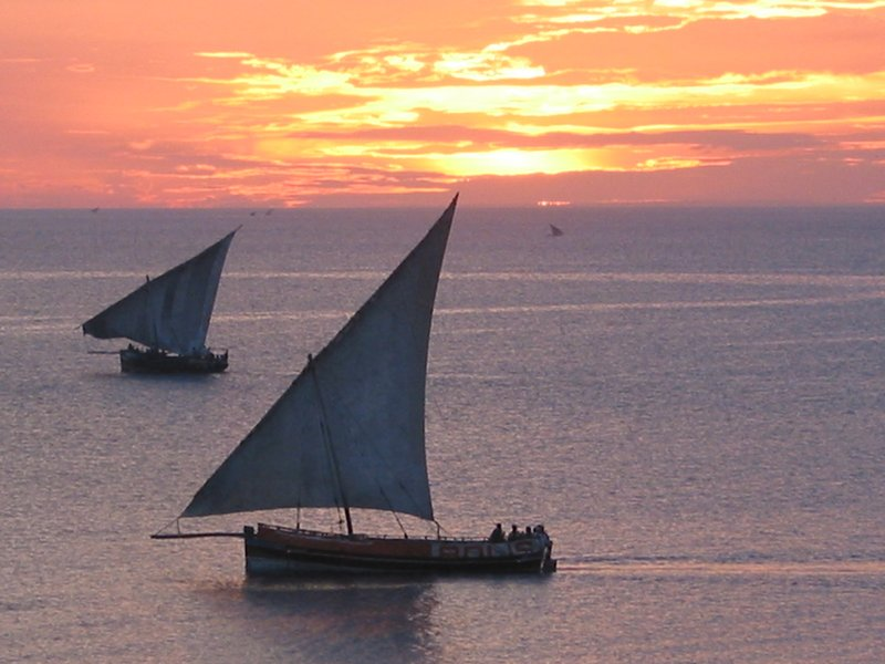 Sunset over Zanzibar