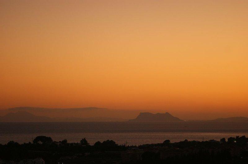 Gibralter at sunset