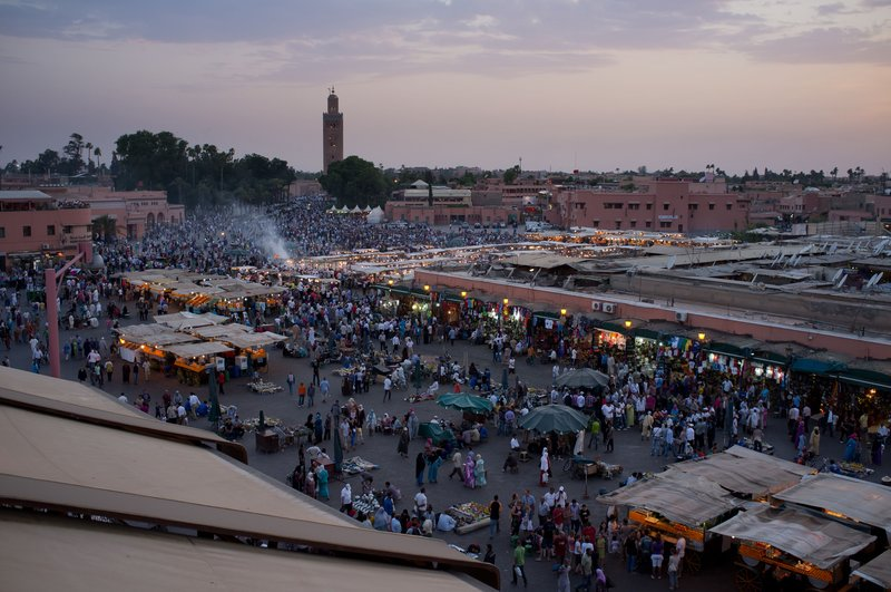 Djemaa el-Fna after sundown