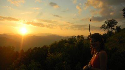 sun set from the village