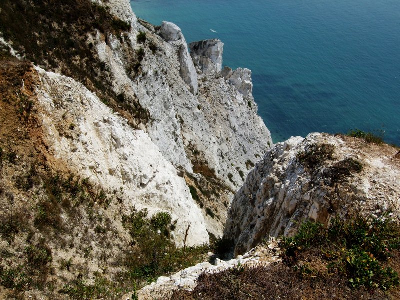 Dramatic cliffs above the English Channel