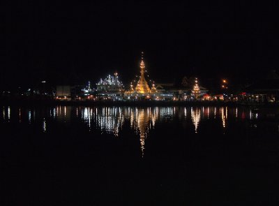 Night reflections in Jong Kham lake