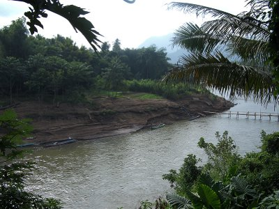 View of the Nam Kahn river from breakfast