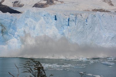 """The face of the glacier """"carving away"""""""
