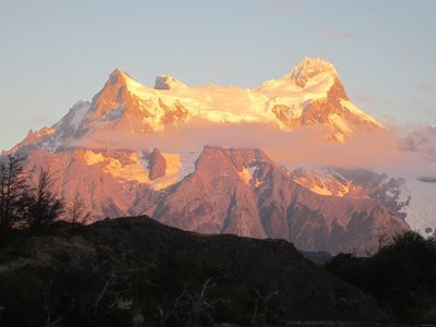 Sunset in Torres Del Paine, Chile