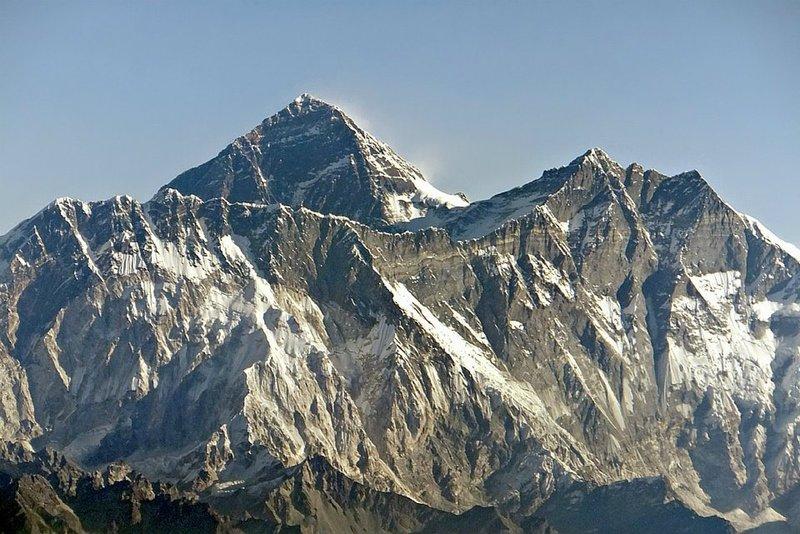Mount Everest from the Everest Flight