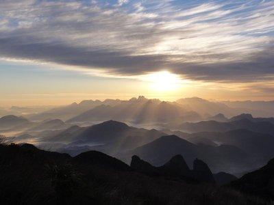 Sunrise at Pedra do Sino, Brazil