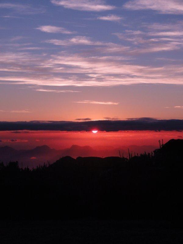 Sunset at Pico da Bandeira, Brazil