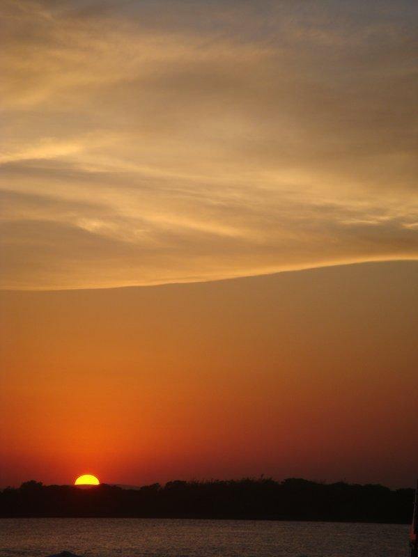 Sunset at Porto Alegre, Brazil