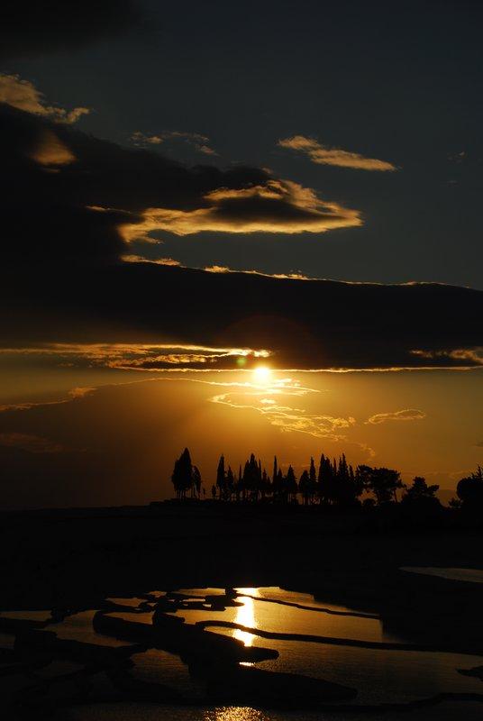 Sunset at Pamukalle