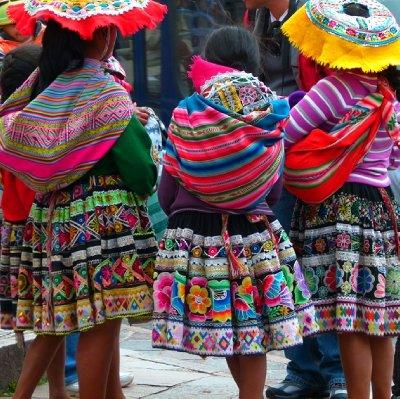5. CUSCO  Colourful clothes everywhere