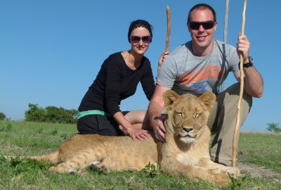 Lion walk, Mike and I