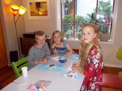 Kos - tre gode venner, Herman, Fredrikke og Alva
