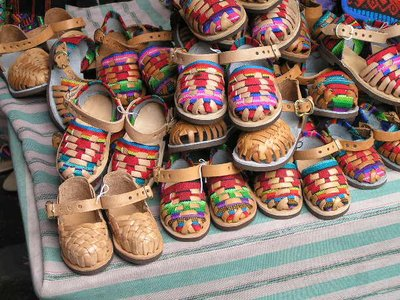 GUATEMALA - Chi-Chi market - shoes for toddlers