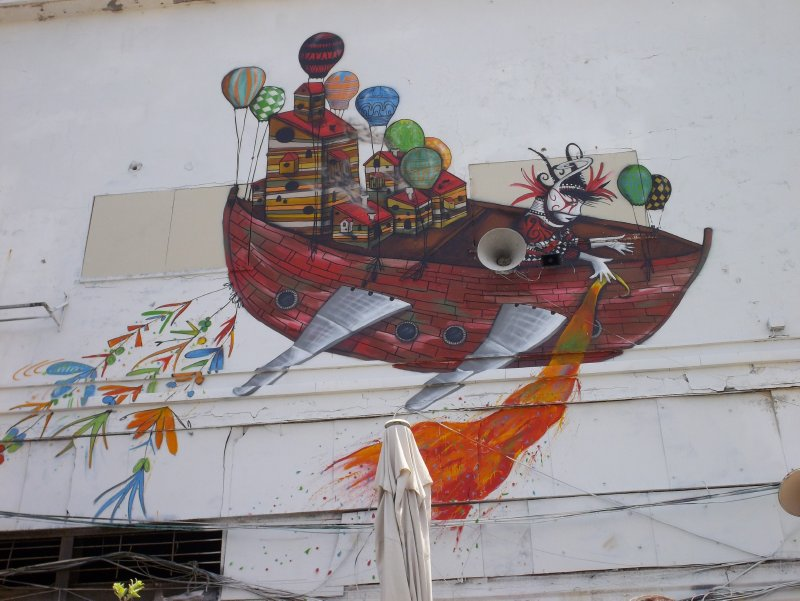 Graffity in Jaffa Harbour (Tel Aviv, Israel)