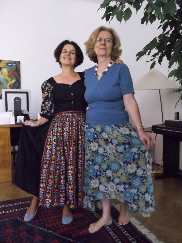 AU_my mom in blue and me in DIRNDL (Traditional Austrian Dress)