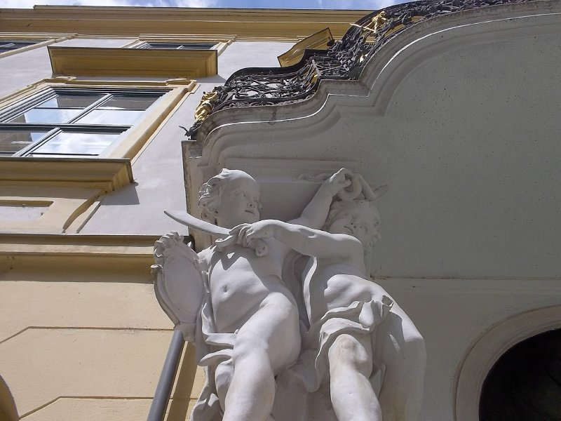AUSTRIA_VIENNA_1st district - Fontain of Andromeda in the yard of Altes Rathaus (detail)