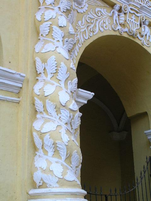 GUATEMALA - Antigua - yellow church decoration
