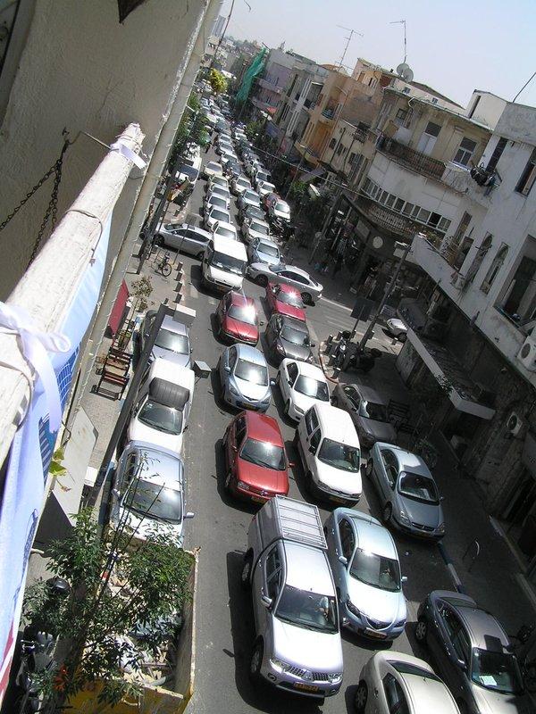 Israel - Busy traffic in South Tel Aviv