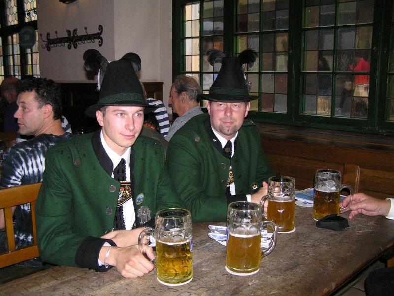 GERMANY_Munich - beer in Hofbräuhaus