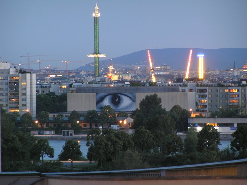 the evening (Vienna's eye & Prater park)