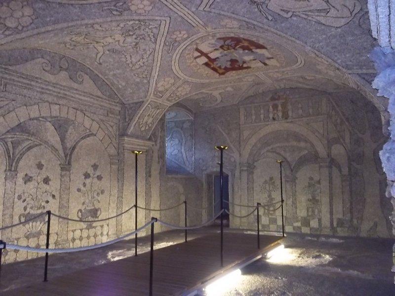 AUSTRIA_riverstones mosaics in Sala Terrena of Greinburg Castle