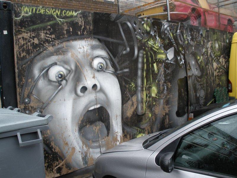 London - graffity in Spitalfields Market