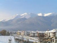 BULGARIA Bansko - view from the window