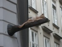 AU_Vienna - street sign of Cafe Neko