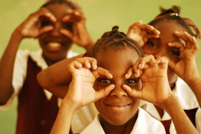 Children in St Lucia. Photo courtesy Art in All of Us
