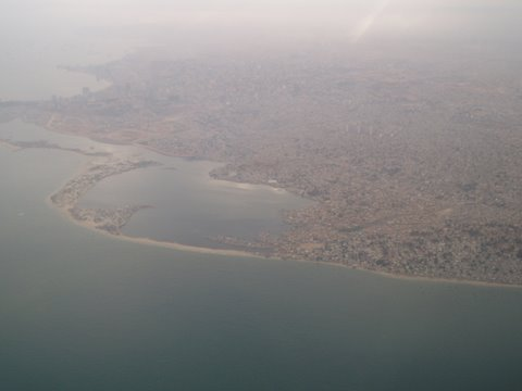 Luanda bay from the air