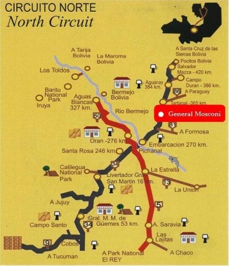 North circuit Salta argentina