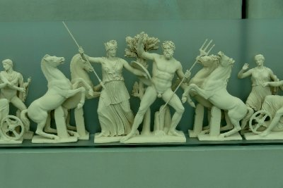 Diorama of the East Pediment of the Parthenon