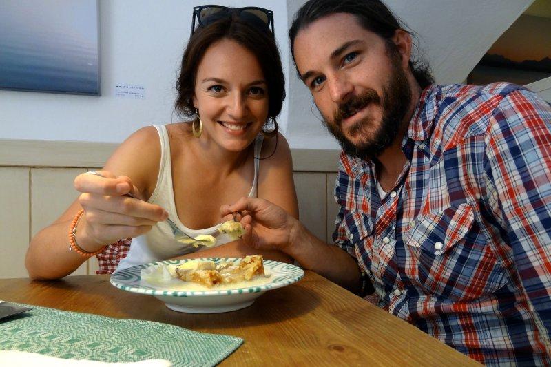 We enjoy our apple strudel!
