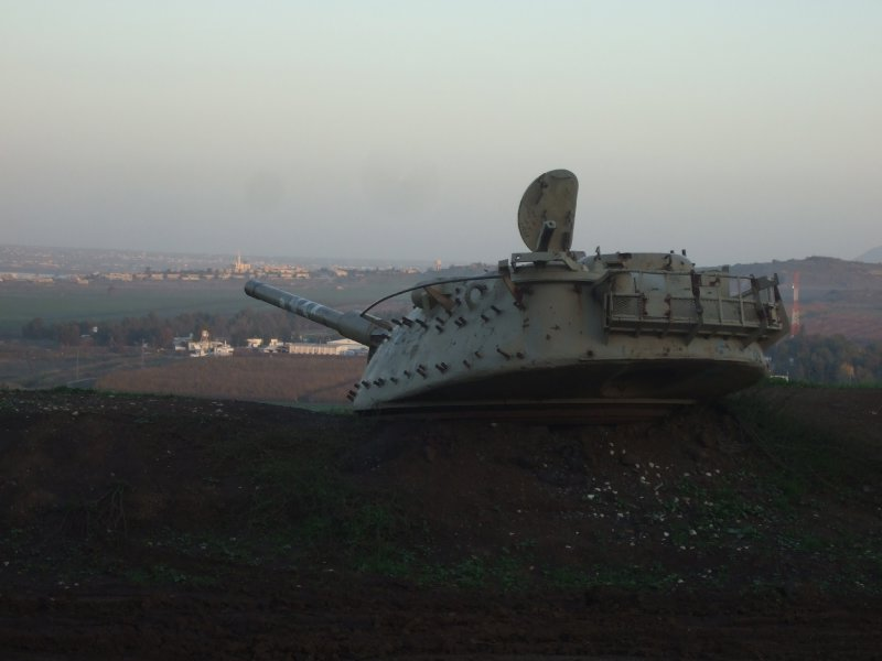 Tank in the Golan Heights