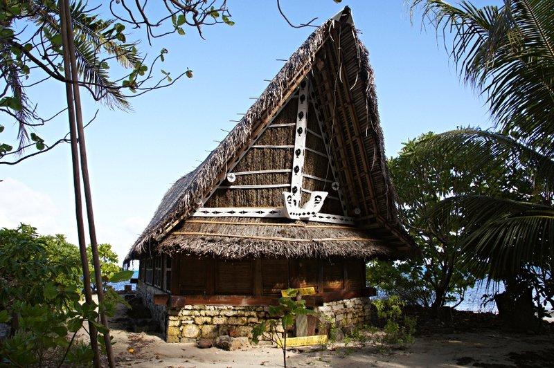 """Bai""- Men's Meeting House auf Yap"