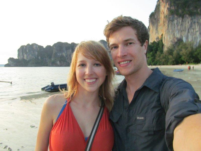 Sam and Avery on Railay Beach
