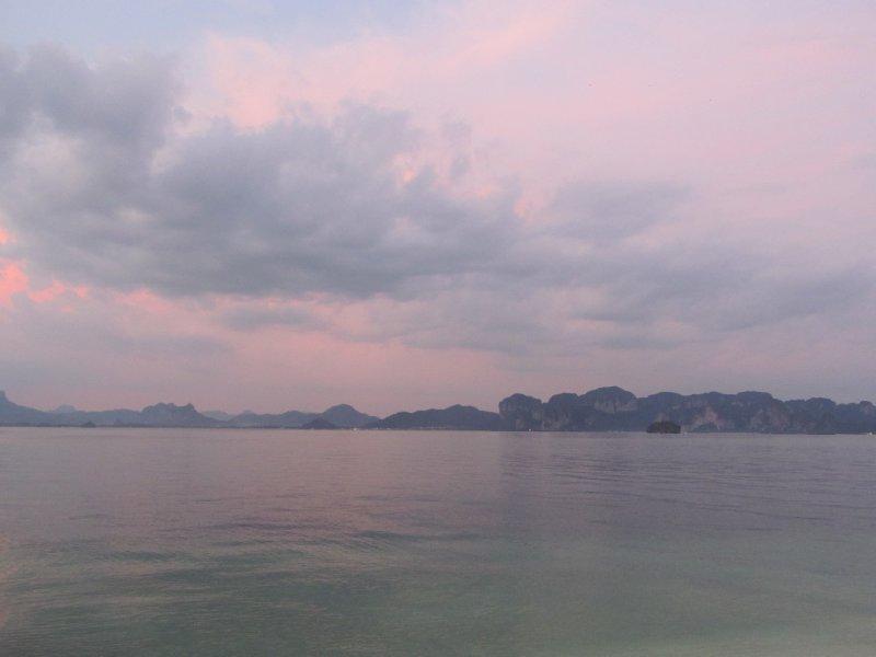 Mainland at Sunset