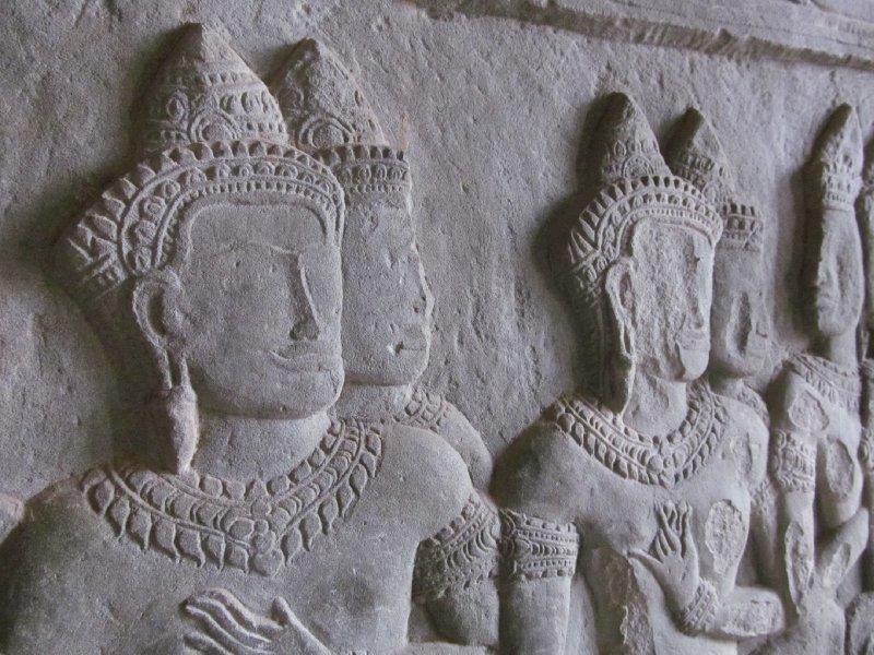 Bas reliefs of Angkor Wat.