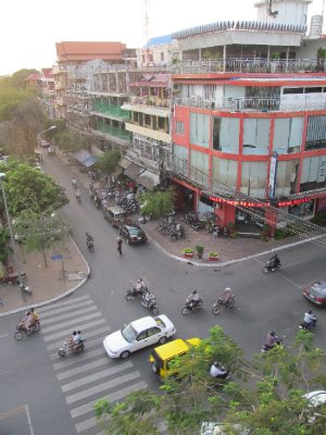 Phnom Pehn from our hotel