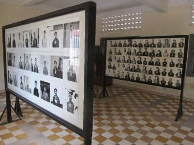 Tuol Sleng Genocide Museum - Victims' headshots