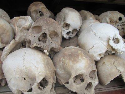 Skulls of those murdered at Choeng Ek